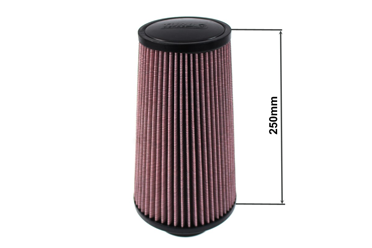 Filtr stożkowy TURBOWORKS H:250mm OTW:60-77mm Purple - GRUBYGARAGE - Sklep Tuningowy